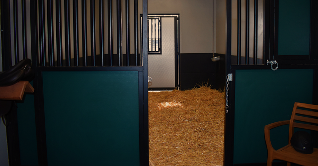 One of the newly renovated quarantine stalls